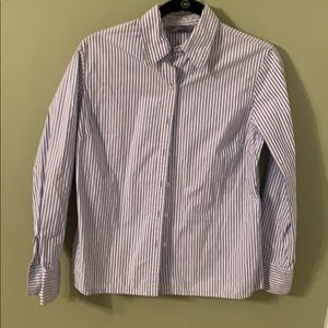 Women's striped button up shirt